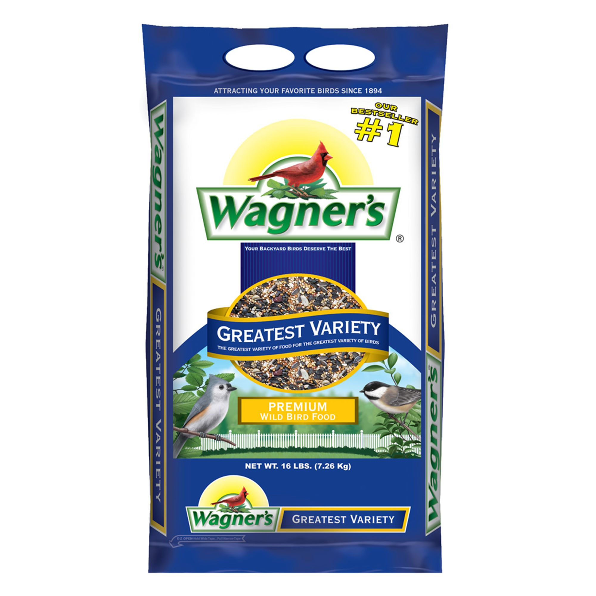 Wagner's Greatest Variety Wild Bird Seed size: 16 Lb, Wagners, Grain, Grain Products 5271543