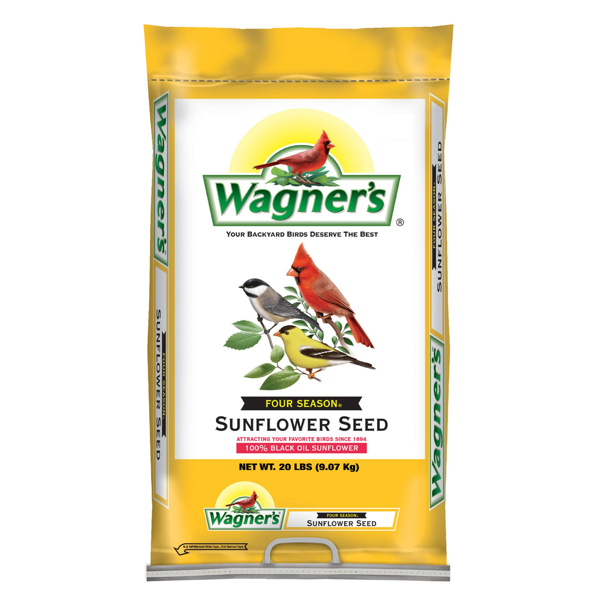 Wagners Four Season Sunflower Seed size: 20 Lb, Grain 5271549