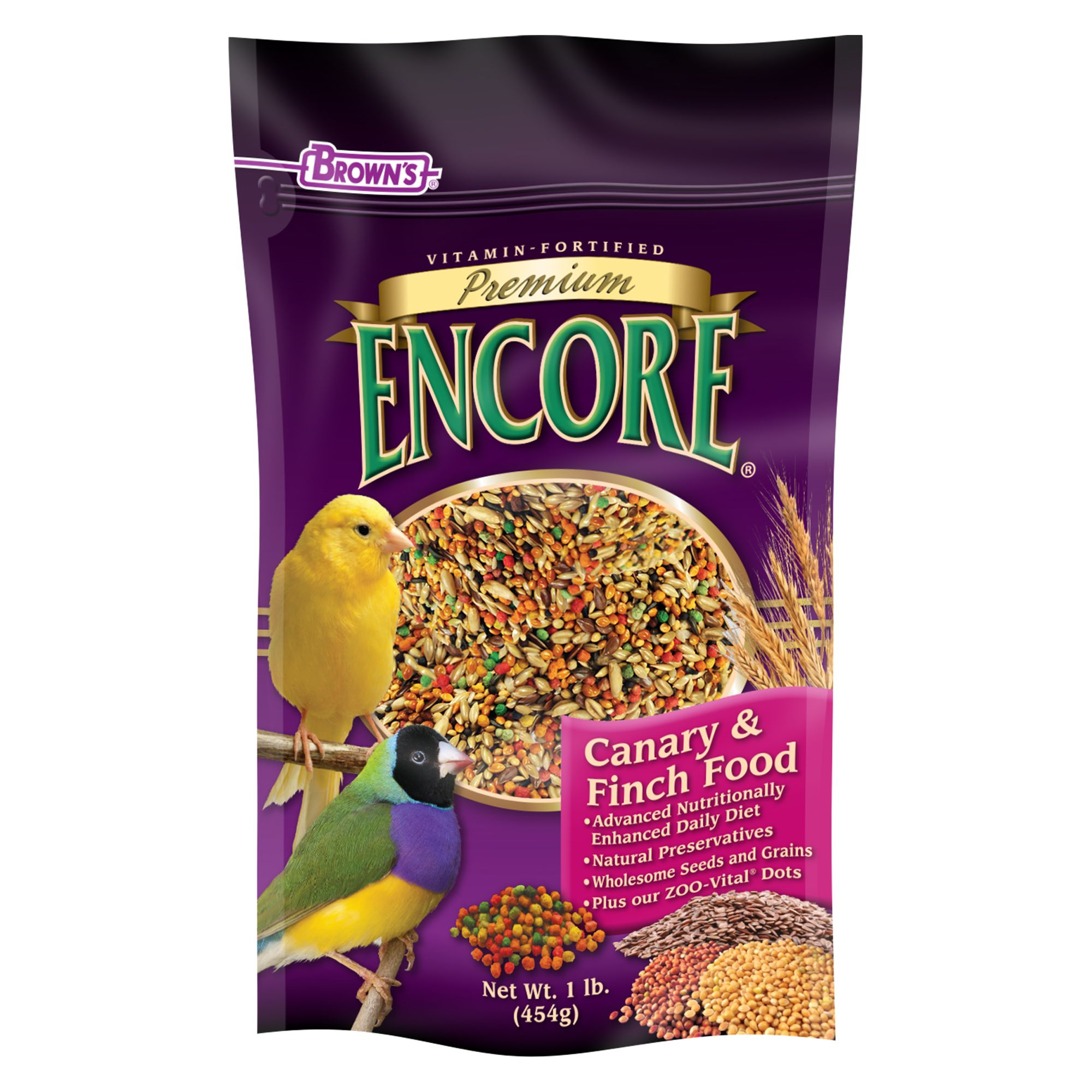 Browns Encore Premium Canary And Finch Food Size 1 Lb Fm Browns