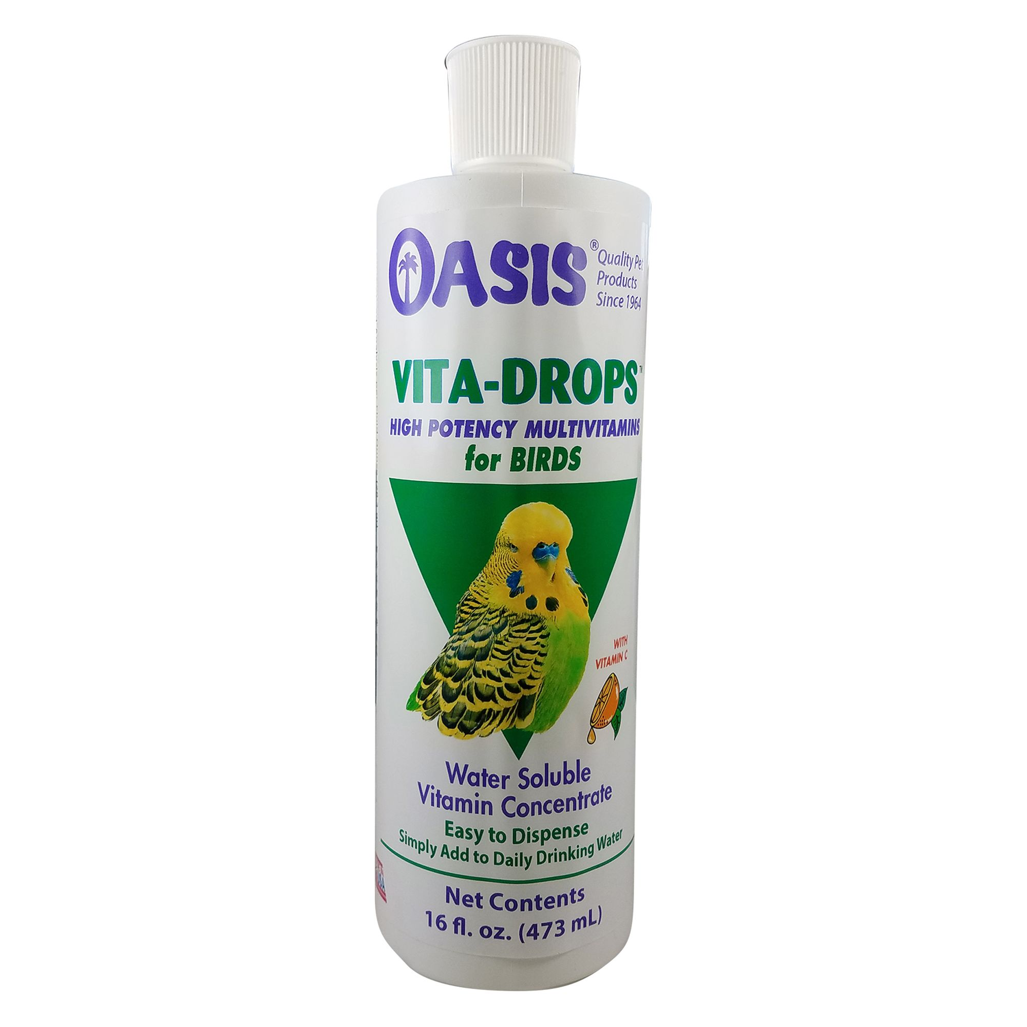 Oasis Vita Drops - Small Bird size: 16 Fl Oz, Vitamin Flavor, Liquid, Water 5271663