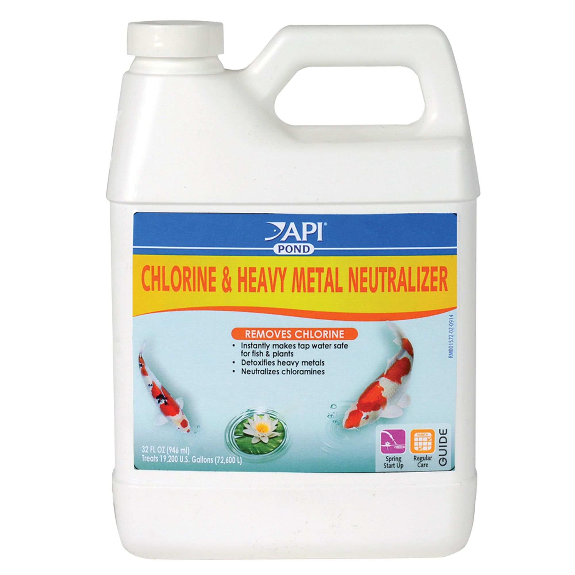 Api Pond Chlorine and Heavy Metal Neutralizer size: 32 Fl Oz