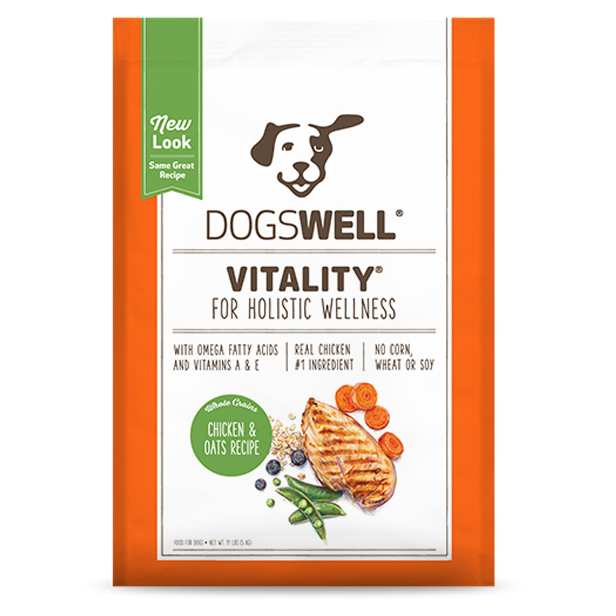 Dogswell Vitality Dog Food - Chicken and Oats size: 11 Lb