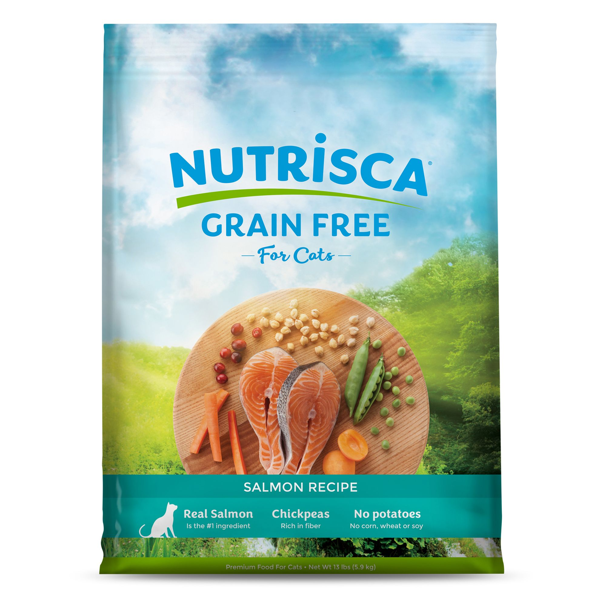 Dogswell Nutrisca Cat Food Grain Free Salmon Size 13 Lb