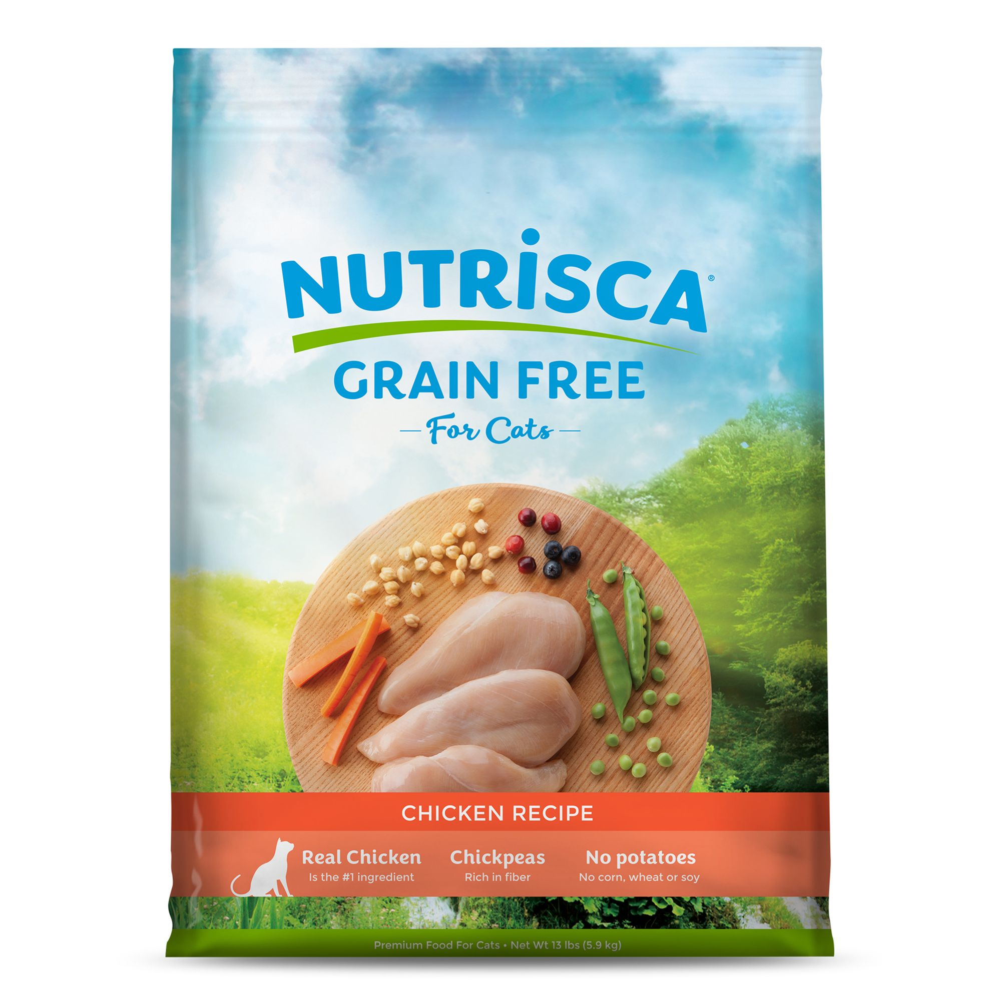 Dogswell Nutrisca Cat Food Grain Free Chicken Size 13 Lb