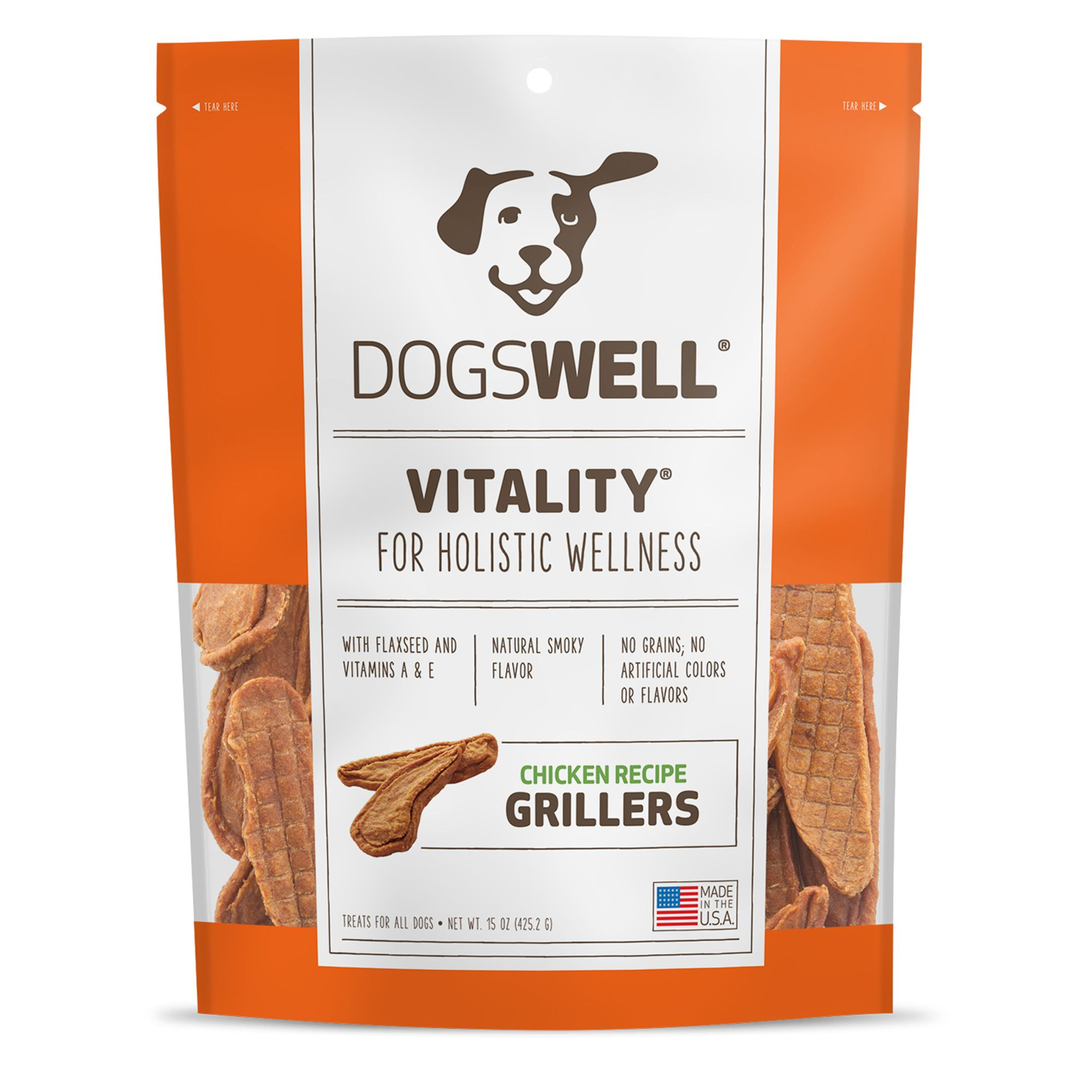 Dogswell Happy Hips Grillers Dog Treat - Grain Free, Chicken size: 15 Oz, Duck, Griller Treat, Adult 5271916