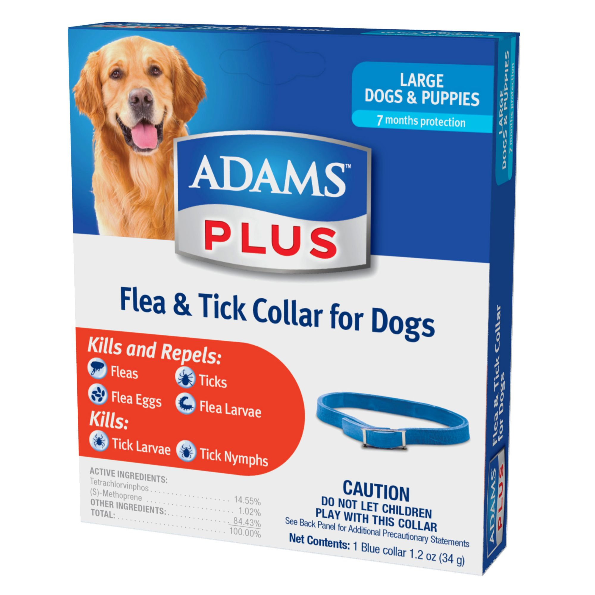 Adams Plus Large Dog Flea And Tick Protection Size Large