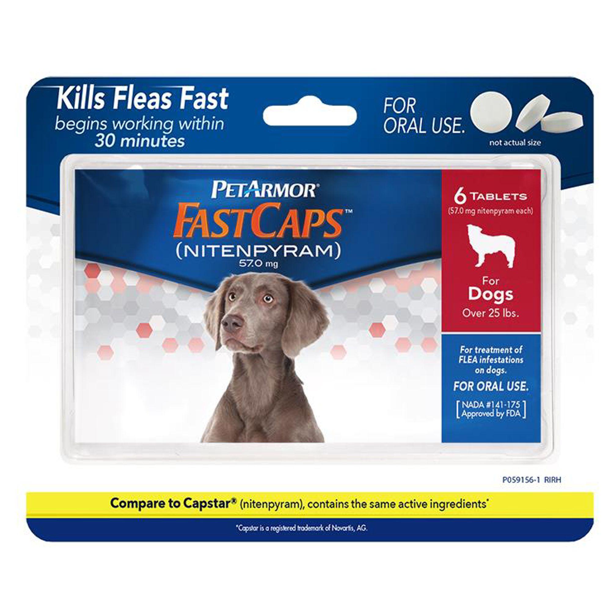 Petarmor Fast Caps 2 25lbs Dog And Cat Flea And Tick Treatment