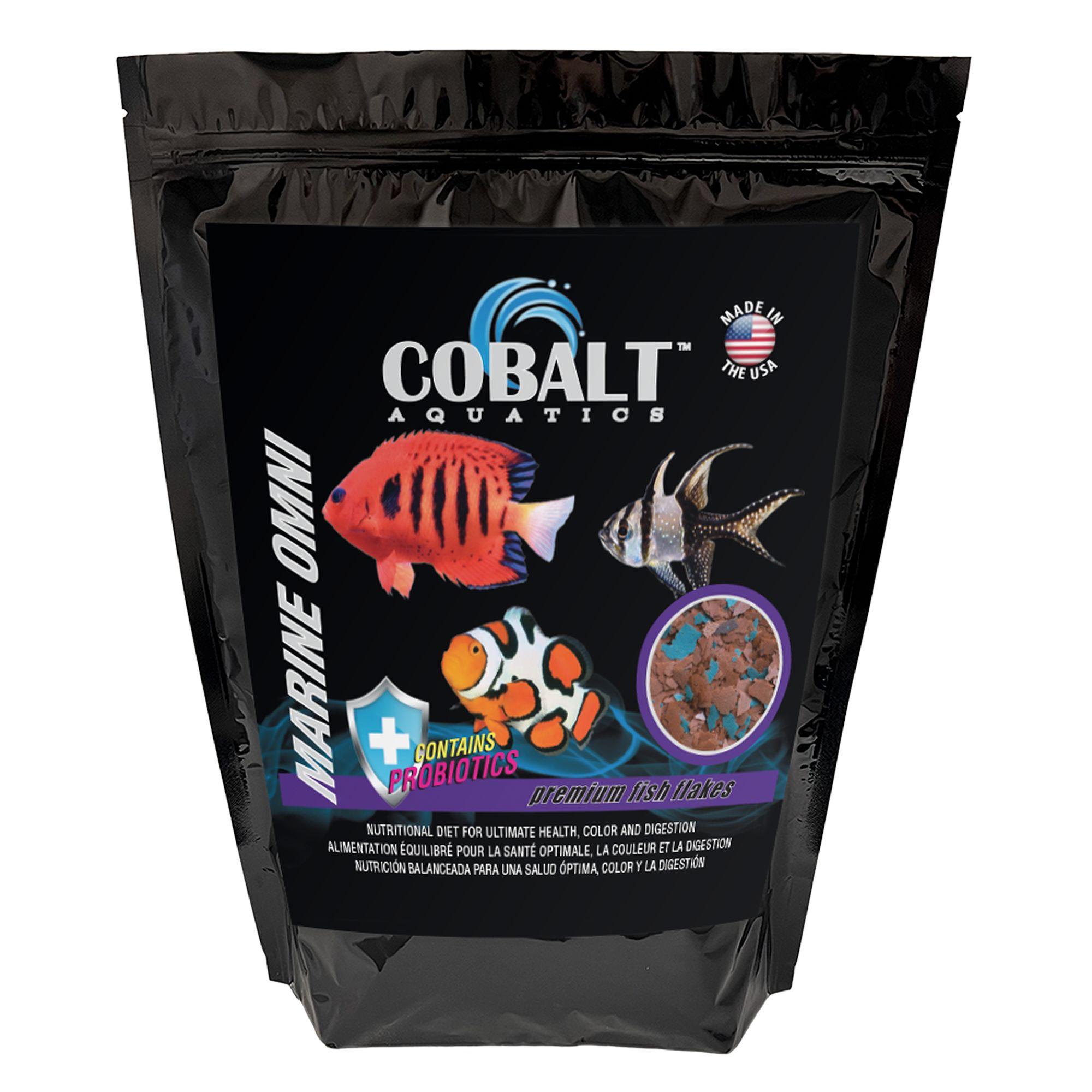 Cobalt, Marine Omni Fish Flakes size: 2 Lb, Marine Omni Flake, Salmon Meal 5272423