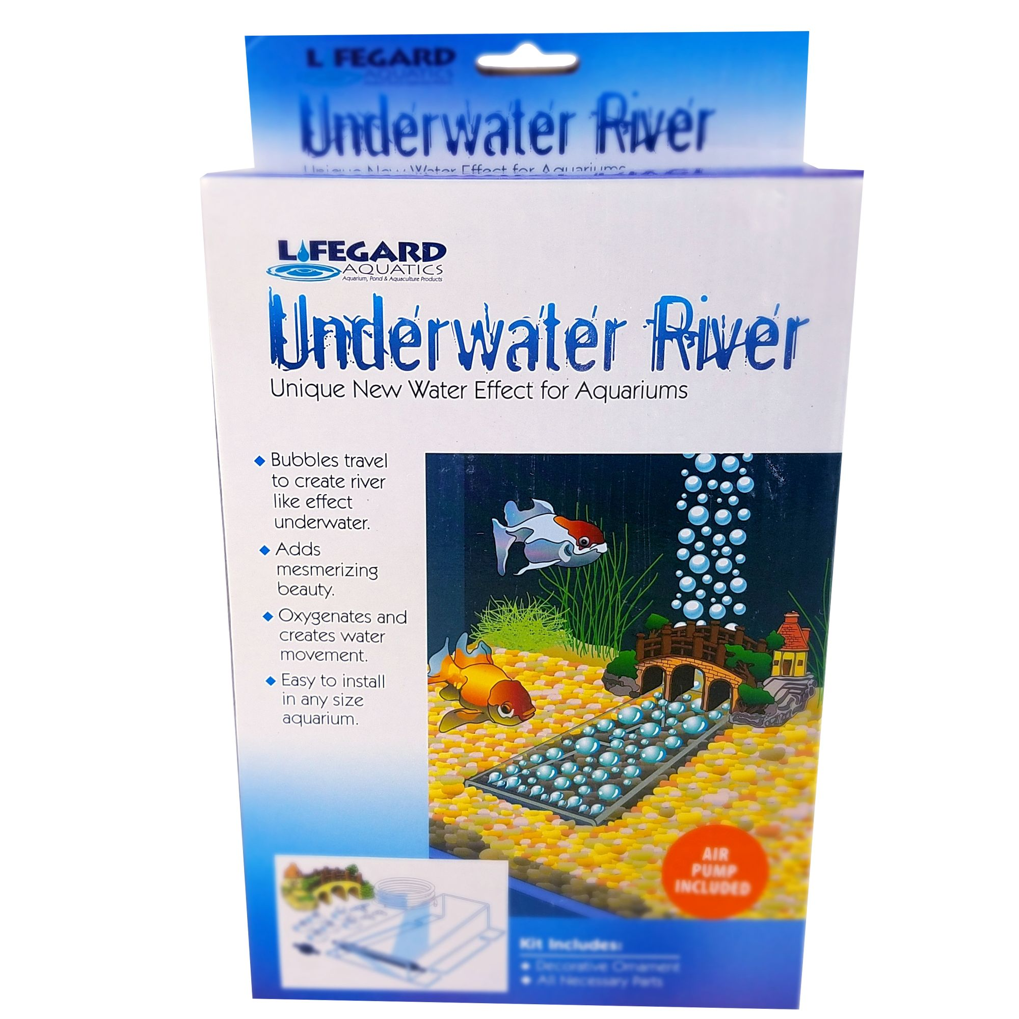 Lifegard Aquatics Underwater River Aquarium Ornament size: Medium