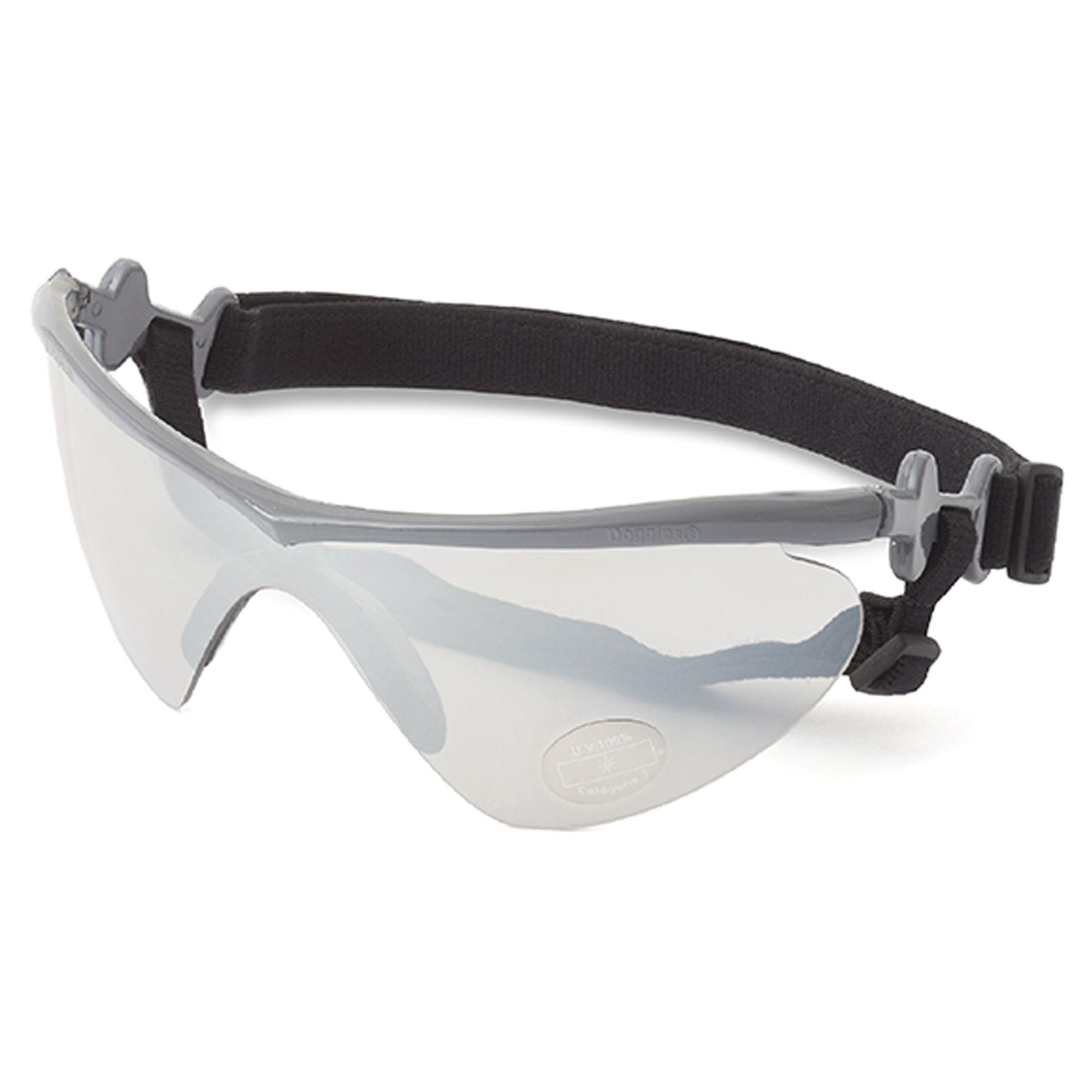 Doggles Rubber Framed Dog Sunglasses size: Medium, Grey