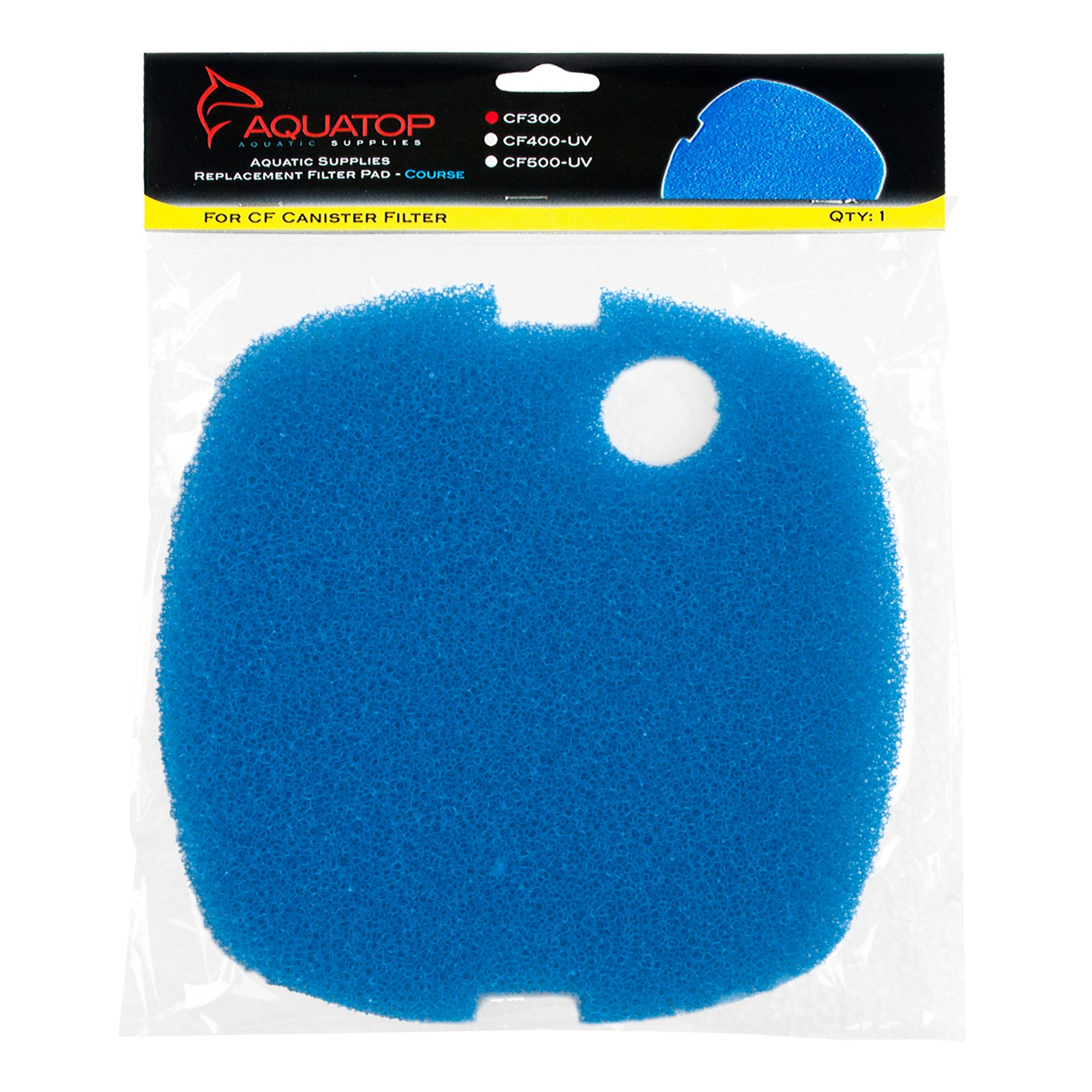Aquatop Blue Filter Sponge Cf300 Size 1 Count