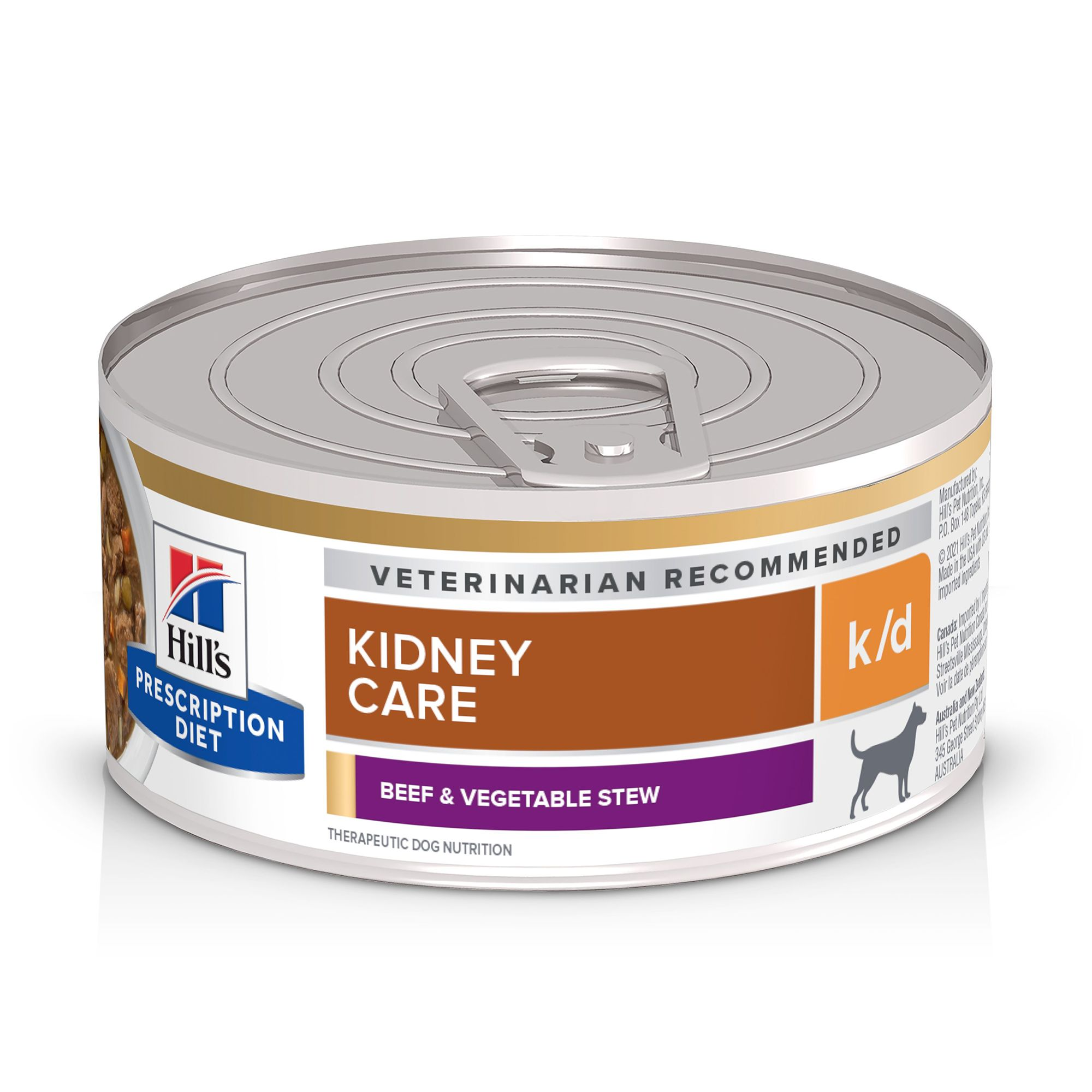 Hill's Medication Diet k/d Kidney Care Dog Food - Beef and Vegetable Stew size: 5.5 Oz, Adult, Mature Adult