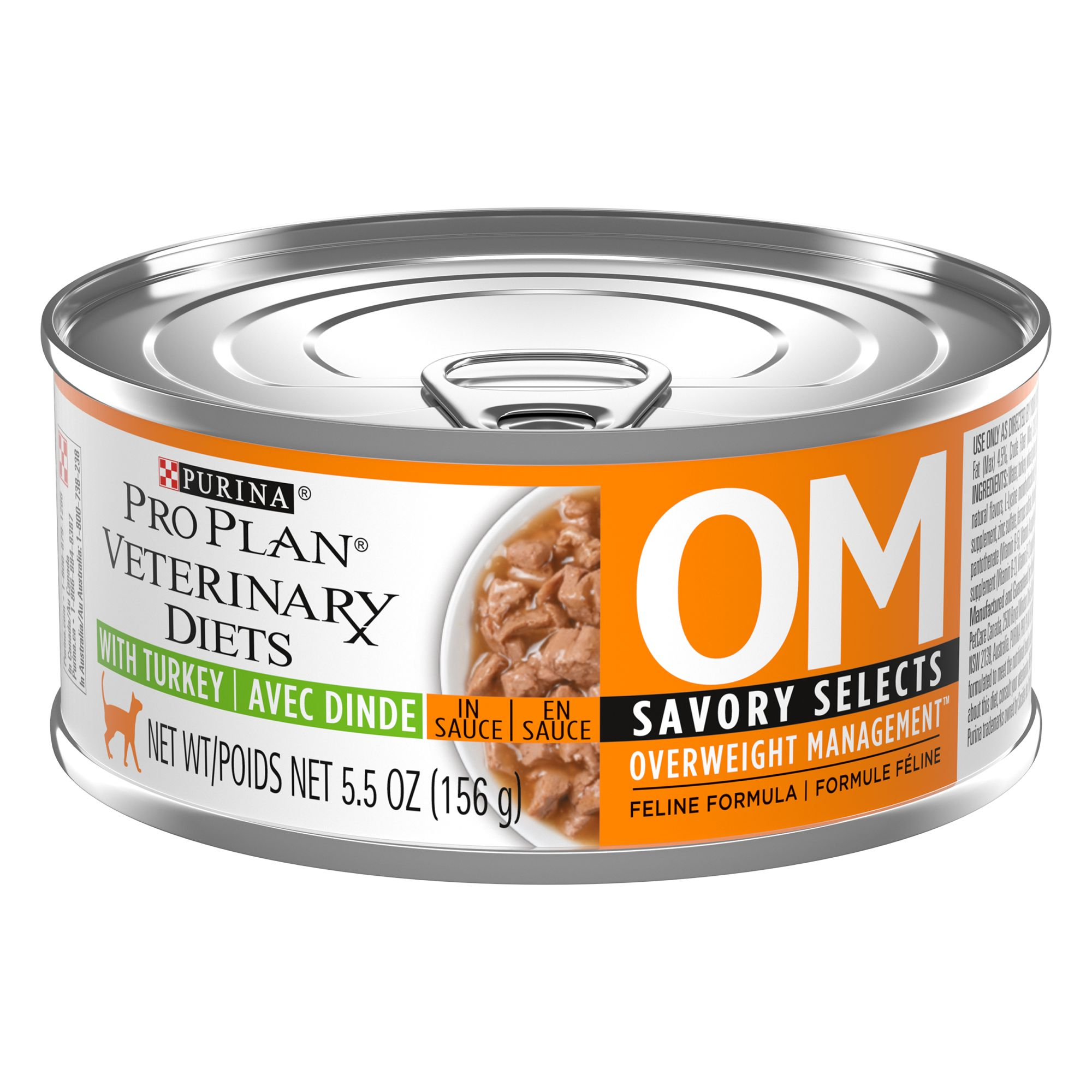 Purina Pro Plan Veterinary Diets Om Overwieght Management Cat Food Size 5.5 Oz