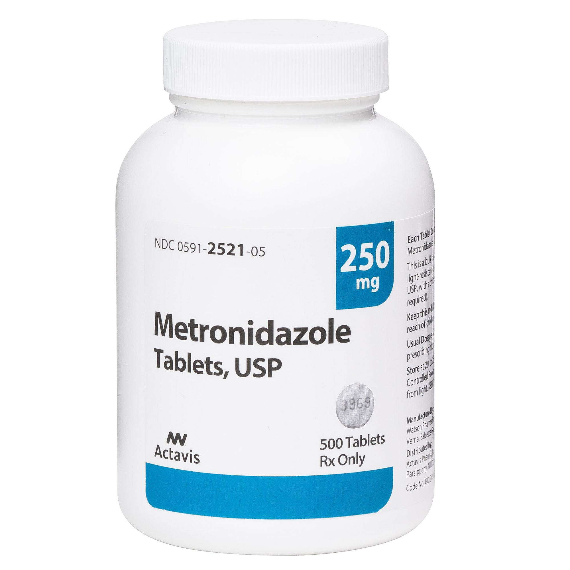 Metronidazole Tablet Generic To Flagyl Size 250 Mg