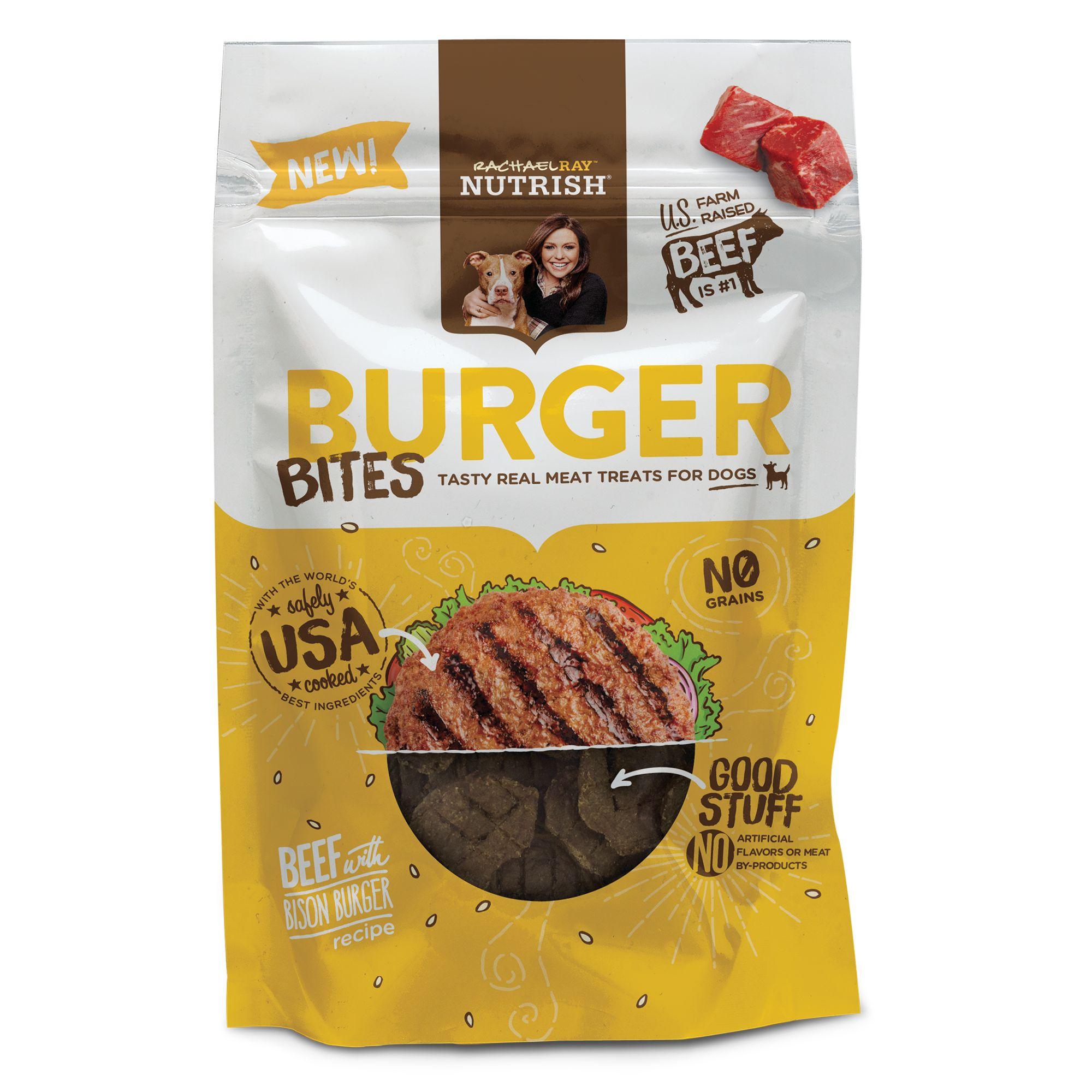 Rachael Ray, Nutrish Burger Bites Dog Treat - Grain Free, Beef with Bison Burger Recipe size: 12 Oz, Rachael Ray Nutrish 5278087