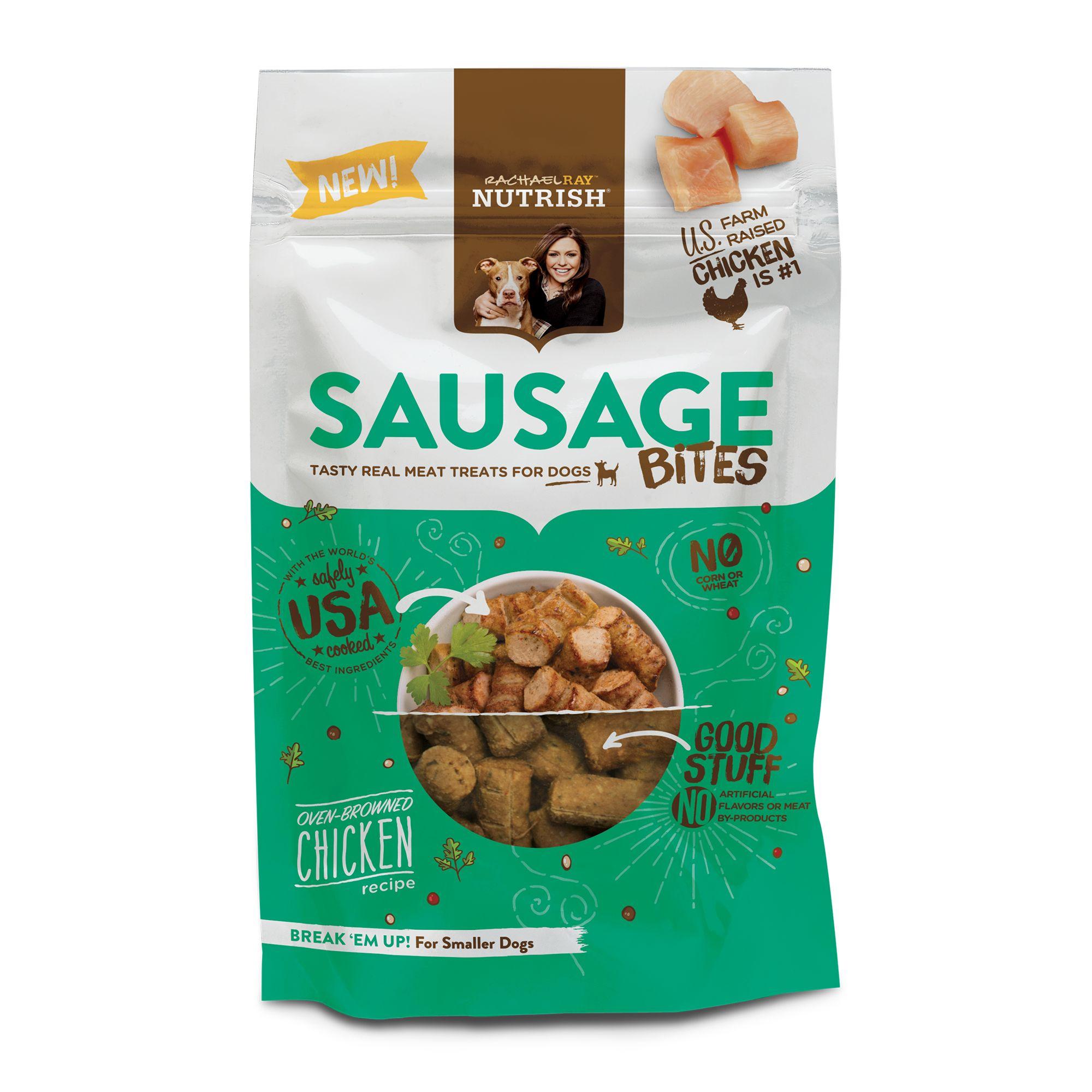 Rachael Ray, Nutrish Sausage Bites Dog Treat - Chicken Recipe size: 3 Oz, Rachael Ray Nutrish 5278098