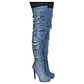 Buy Women's Thigh High Boots | Leather High Heel Boots at Shiekh Shoes