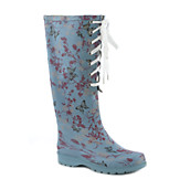 Womens Lace-Up Rain Boot