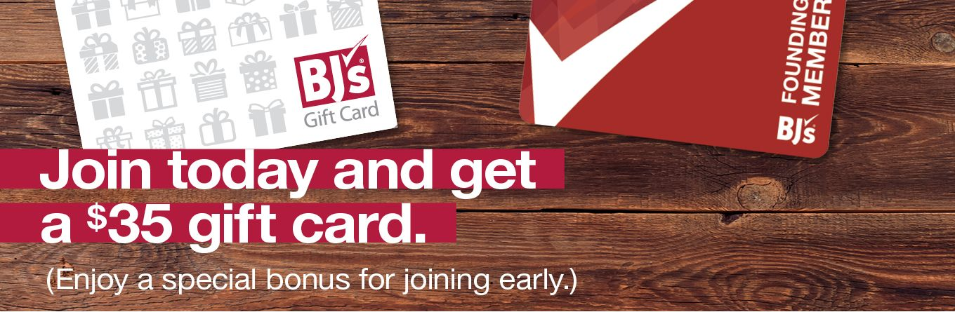 Join today and get a gift card, plus coupons.
