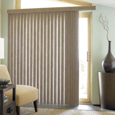 jcpenney home suedelook vinyl vertical blinds - Vertical Blinds For Sliding Glass Doors