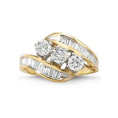 Love Lives Forever™ 1½ CT. T.W. Diamond 10K Gold 3-Stone Ring