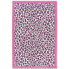 Tween Leopard Field Washable Rectangular Rug