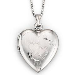 Sterling Silver Double Heart Locket