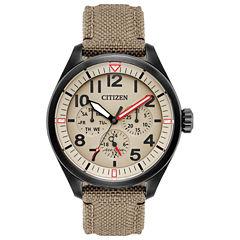 Citizen Mens Brown Strap Watch-Bu2055-08x