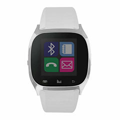 iTouch White Silver Tone Smart Watch-JCIT3160S590-001