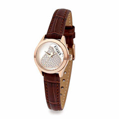 Hershey Kisses Womens Brown Strap Watch-Ks003rgbn