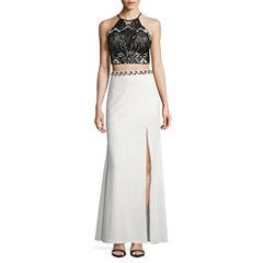 My Michelle Sleeveless Beaded Sequin Dress Set-Juniors