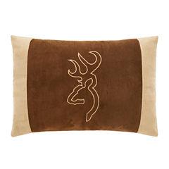 Browning Buckmark Suede Lumbar Pillow