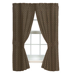 Blue Ridge Trading Whitetail Dreams Rod Pocket Lined 2-Pack Curtain Panels