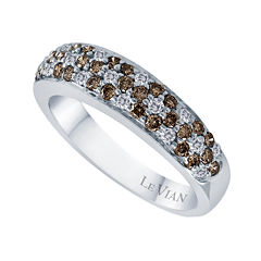 LIMITED QUANTITIES Grand Sample Sale™ by Le Vian®  3/4 CT. T.W. Vanilla and Chocolate Diamond® set in 14k Vanilla Gold® Ring