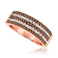 LIMITED QUANTITIES Grand Sample Sale™ by Le Vian®  3/4 CT. T.W. White and Chocolate Diamond set in 14k Strawberry Gold® Band