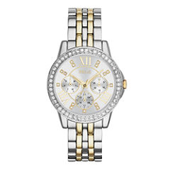 Relic® Womens Crystal-Accent Two-Tone Bracelet Watch ZR15753