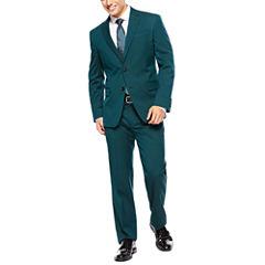 JF J. Ferrar® Teal Suit Separates -  Super Slim-Fit