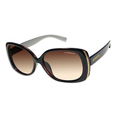 Liz Claiborne Full Frame Rectangular UV Protection Sunglasses-Womens