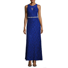My Michelle Sleeveless Beaded Sequin Evening Gown-Juniors