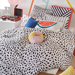 Scribble Ink Drop Duvet Cover Set