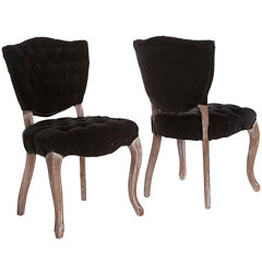 Adilene Set of 2 Tufted Dining Chairs