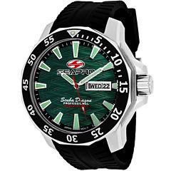 Sea-Pro Scuba Diver Limited Edition Mens Black Strap Watch-Sp8318