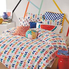 Scribble Checkmark Comforter Set