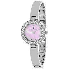 Christian Van Sant Womens Silver Tone Bracelet Watch-Cv8611
