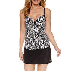 Pure Paradise Bra Sized Dots Tankini Swimsuit Top