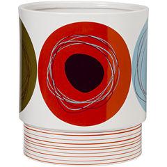 Creative Bath™ Dot Swirl Ceramic Wastebasket