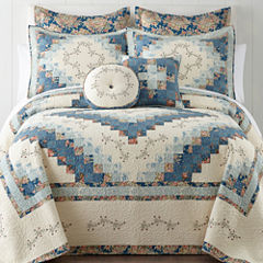 Home Expresions™ Cassandra Blue Pieced Bedspread & Accessories
