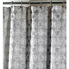 Avanti Galaxy Silver Shower Curtain