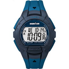 Timex Ironman Essential 10 Mens Blue Strap Watch-Tw5m114009j
