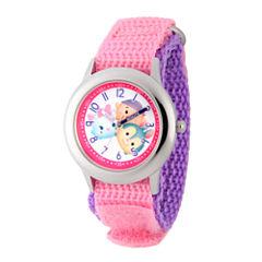 Disney Tsum Tsum Girls Pink Strap Watch-Wds000118